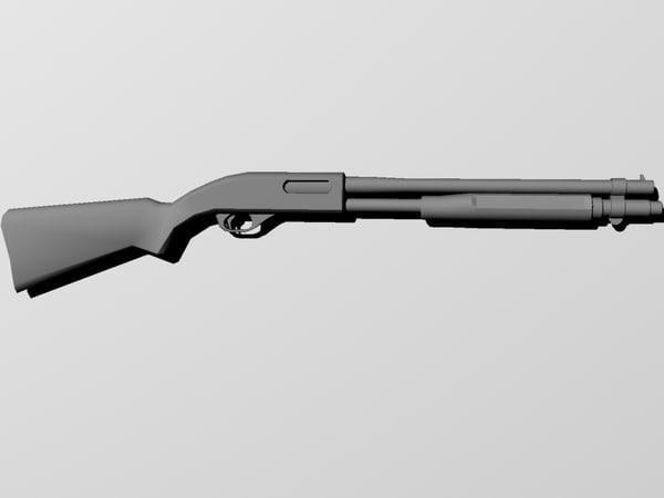 3d model remington shotgun
