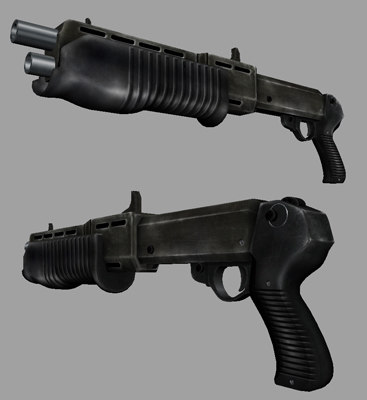 3d shotgun shot gun model