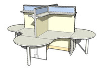 3d workstation model