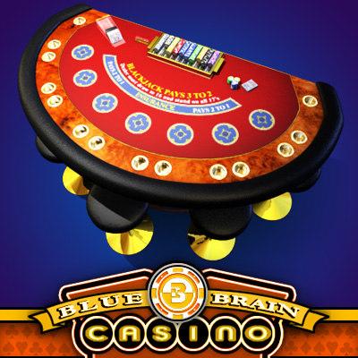casino blackjack table - 3d max