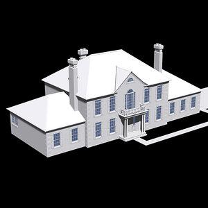 lwo upscale colonial suburban house