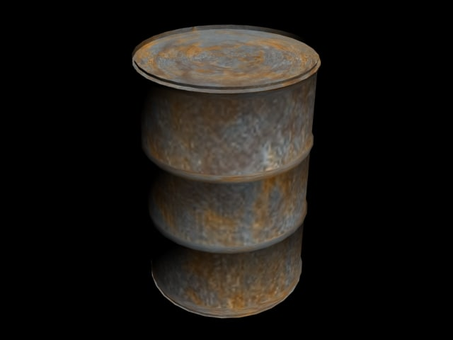 max rusted oil drum