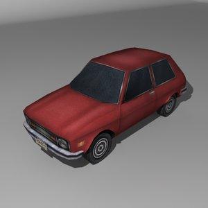 yugo car 3d model