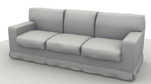3d model sofa america 3 pillow
