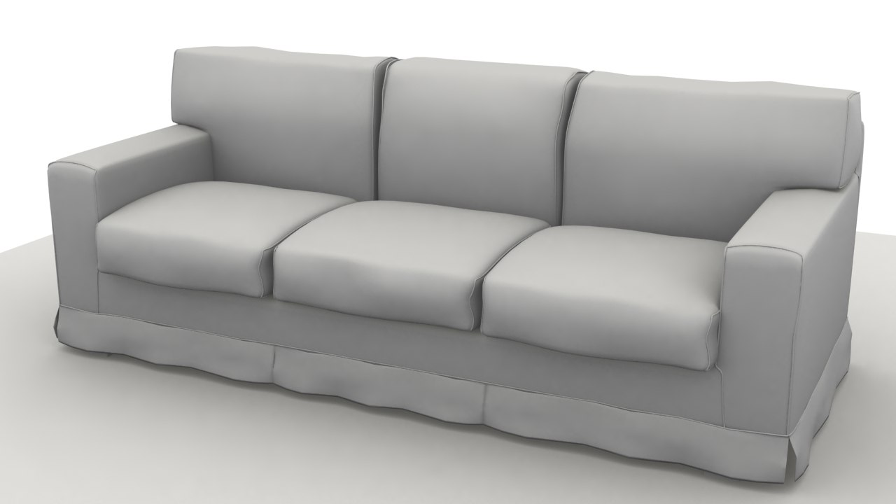 3d model sofa america 3 pillow