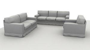 sofa america composition 3d 3ds