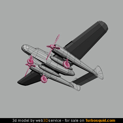 p-61 black widow plane 3d model