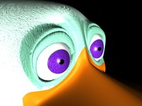 cartoon duck c4d