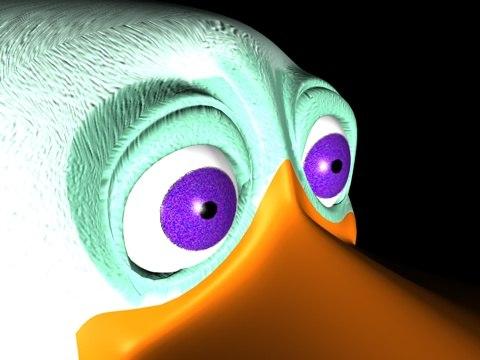 cartoon duck c4d