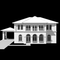 3d model mediterranean style house