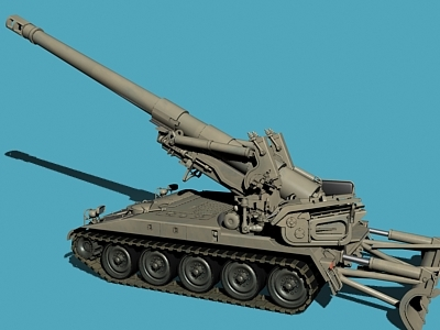 self propelled howitzer m110 a2 3d model