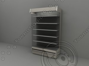 upright refrigerated dairy 3d model