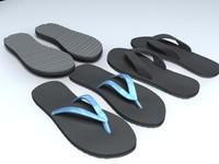 3d model mens sandals