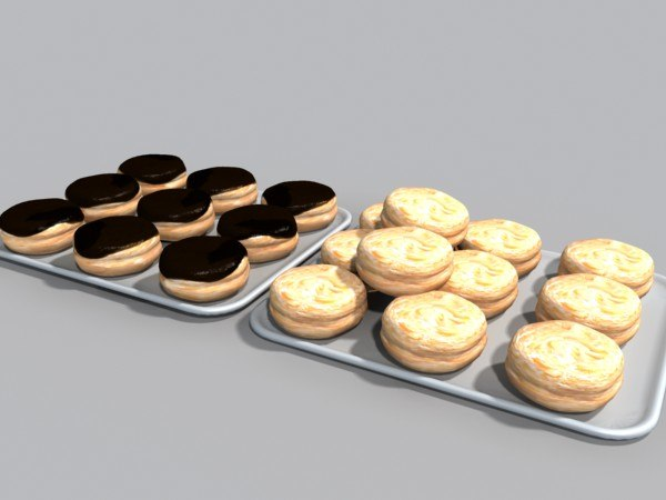 3ds max glazed donuts