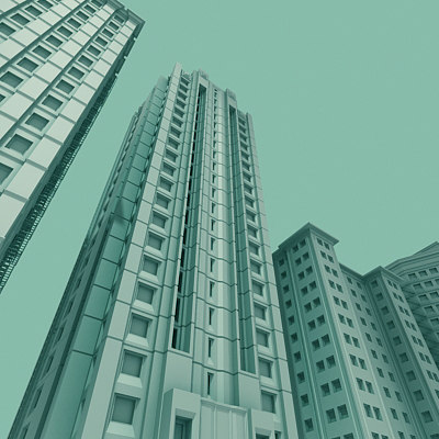 3ds max vintage buildings