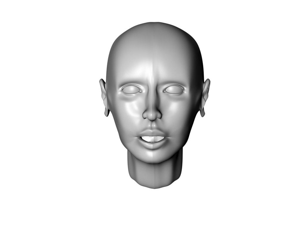 free woman head 3d model