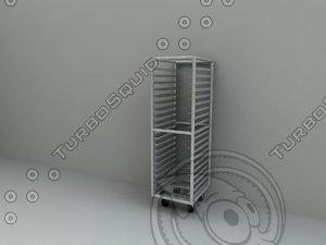 bun pan rack 3d model