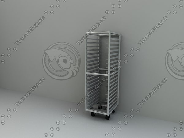 bun pan rack 3d model