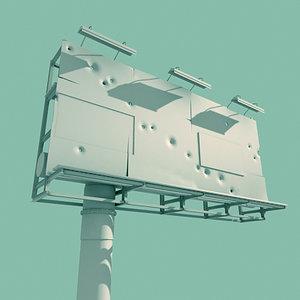 advertising billboard 3ds