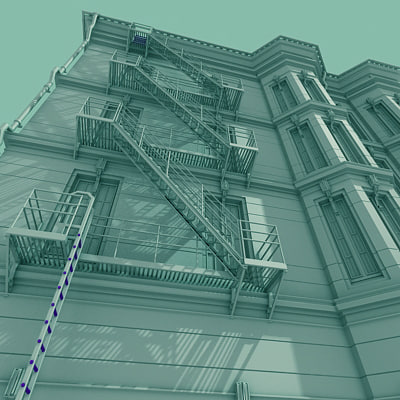 1890 building 3d 3ds