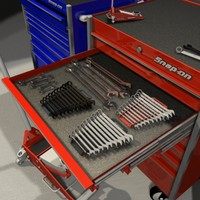 snap-on tool set boxes 3d max