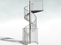 winding stair 3d model