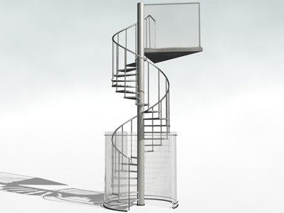 winding stair 3d model