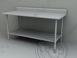 work table 3d model