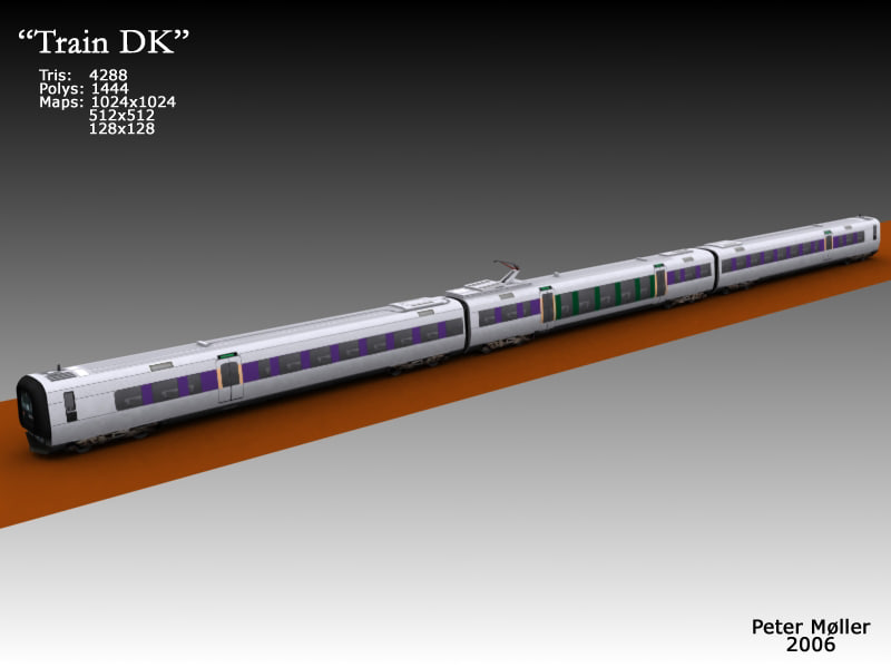 train denmark transport 3d max