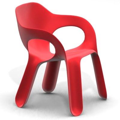 3d model easy chair - jerszy seymour