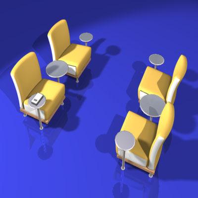 3d seating music model