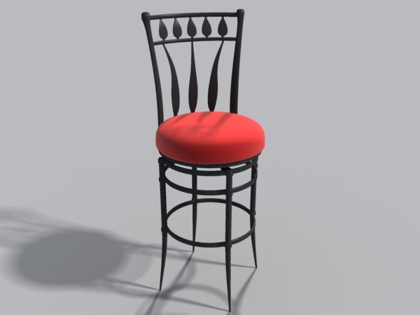 iron bar stool max
