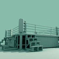 3ds max boxing ring