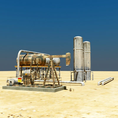 oilfield equipment 3d 3ds
