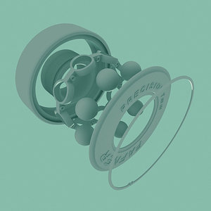 wheel bearing 3d 3ds