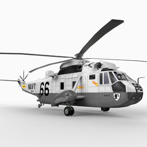 sikorsky sea king u s 3d model