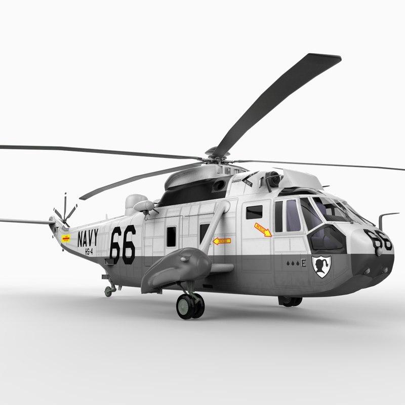 sikorsky sea king u s 3d model