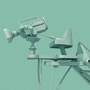 3d model movie camera crane