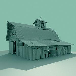 old barn 3d model