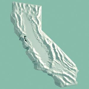 topographic california 3d model