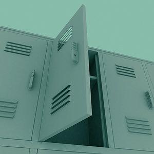 3d model school locker