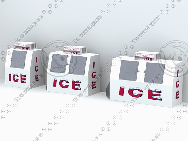 3d model outdoor ice merchandisers