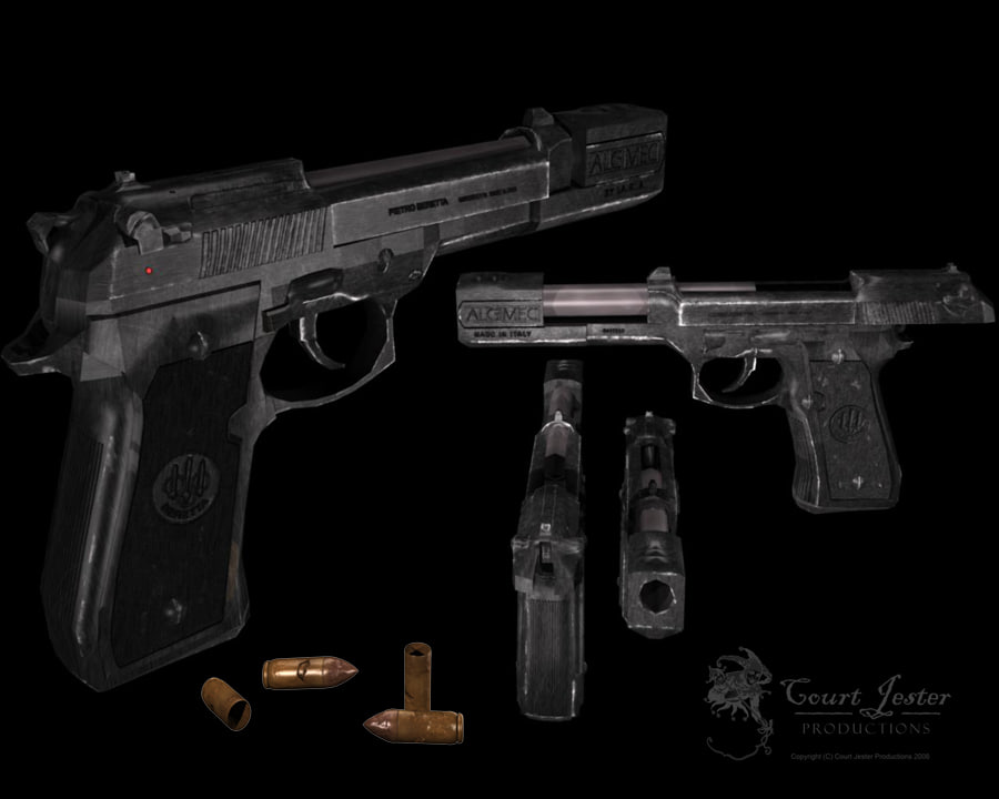 3d beretta gun