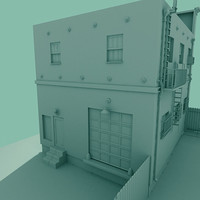 architectural building old town 3d model