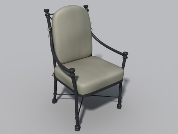 3ds max iron chair