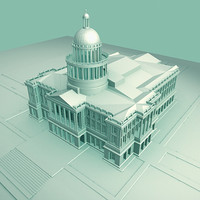 3d model california state capitol building