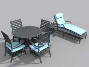 patio set table 3d model