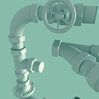 pipe fittings 3d model