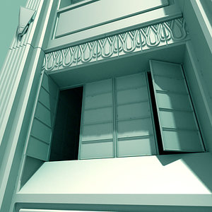3ds max architectural art deco building