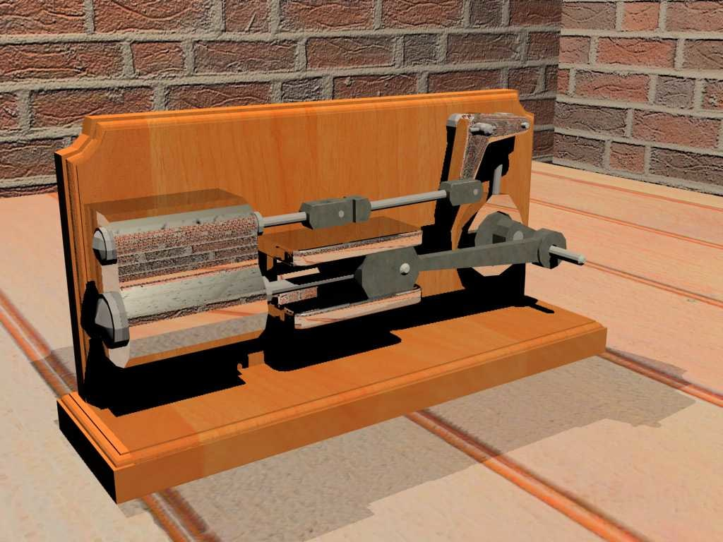 free steam engine 3d model